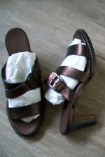 Bruno Magli-bronze leather sandals.EU 38,5.Heel 7 cm.New in box.RRP 435 £