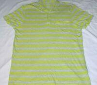 AX Armani Exchange Green Gray Horizontal Striped Polo Golf Shirt Mens Size XL
