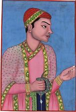 Indian Qutb Shahi Dynasty Painting Handmade Golconda Muhammad Quli Deccan Art