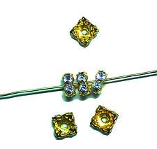 SWAROVSKI ELEMENTS Rondell quadrato 8mm Crystal Gold 1x