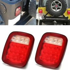 2PCS 16 LED Universal Stop Tail Turn Signal Backup Light Lamp For Truck Jeep