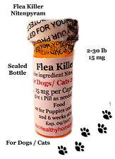 K9 Flea Killer Dogs/ Cats 2-30lb 12x micro capsules  generic Capstar Sealed