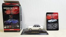 1/64 Kyosho NISSAN PRINCE SKYLINE GTB WHITE/BLACK diecast car model