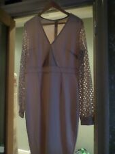 stunning Brown Long dress christening, cruise , christmas, party size 16-18