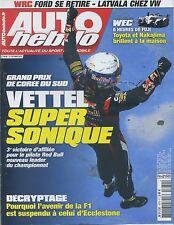 AUTO HEBDO n°1879 du 17 OCTOBRE 2012 GP COREE du SUD WEC 6h de FUJI