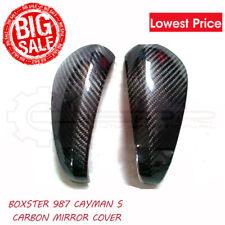 For Porsche Boxster 987 Cayman Carbon Fiber Side Mirror Trim Cover 2pcs