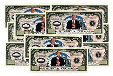 10 Donald Trump USA fantasy paper money Legacy President 2016