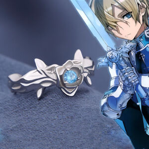 Anime Alicization Sword Art Online Silver Adjustable Unisex Ring Cosplay Gift
