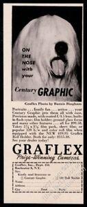 1950 Old English Sheepdog photo Graflex cameras vintage print ad