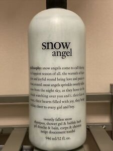 Philosophy Snow Angel Shampoo Shower Gel Bubble Bath 32 Fl Oz Bottle Brand New