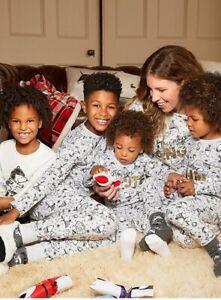 Official Peanuts Snoopy Family Matching Christmas Pyjamas Mum Dad Kids Cotton