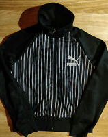 Puma 90's Vintage Womens Tracksuit Top Jacket Black White Striped