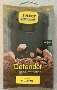 New Original Otterbox Defender Series Case for HTC One M9 - w/ Holster - Black !