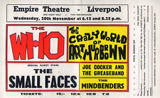 THE WHO & SMALL FACES REPRO 1968 LIVERPOOL EMPIRE CONCERT POSTER