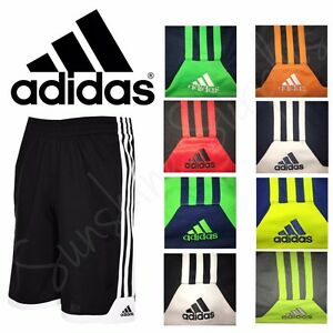 ADIDAS Boys Classic 3 Stripe Key Item Athletic Shorts Variety Sizes & Colors NWT