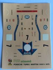 PORSCHE 908/3 TURBO MARTINI 1975 DECAL decals 1/43