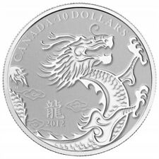 Canada - 2012 $10 Silver Coin - YEAR OF THE DRAGON in OGP Red Envelope