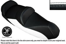 BLACK AND WHITE VINYL CUSTOM FITS 14-15 PIAGGIO MP3 LT 500 SPORT SEAT COVER ONLY