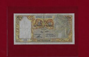 ALGERIA 10 Nouveaux Francs 1960  P-119 VF  TUNISIA ALGERIE TUNISIE