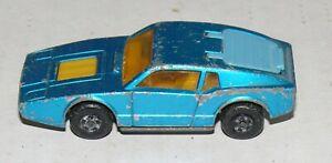 Matchbox Superfast #65 Saab Sonett III (Lesney 1973) Metallic blue