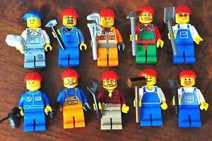 LEGO Minifig 1x Construction worker tradesman gardener mechanic or truck driver