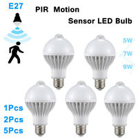 5W 7W 9W E27 Smart Lamp Bulb LED Bulb White With PIR Motion Sensor  110V 220V