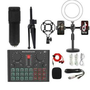 Two-way RGB stereo USB condenser microphone mobile phone computer live recording