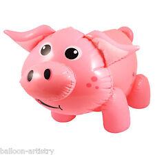 55cm Farm Farmyard Children's Party Cute Pink Pig Inflatable Prop Decoration