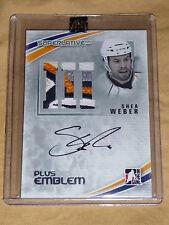 11-12 ITG Superlative Shea Weber Autograph EMBLEM 5/9 RARE SICK 4CLR PATCH L@@K