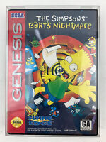 The Simpsons Bart's Nightmare CIB Sega Genesis Game Tested Works
