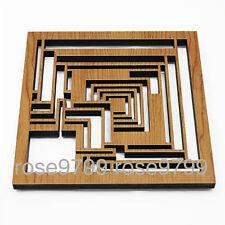 Frank Lloyd Wright Laser Cut Wood Ennis Trivet and Wall Plaque NIB