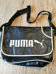 Puma Black Airliner Messenger Cross Body Bag Vintage Retro #6