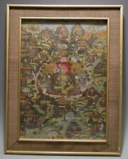 Fine Old Tibet Sino Tibetan Hand painted Buddhist Thangka ca. 19-20th century