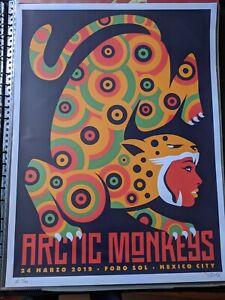 Arctic Monkeys Foro Sol Mexico City rare Artist Proof 19/80 poster Dan Stiles