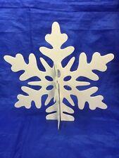 2 HOLIDAY TIME White Glitter Snowflake Table Decoration Snowflakes 25318