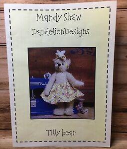 Mandy Shaw Dandelion Designs Tilly Bear Sewing Pattern
