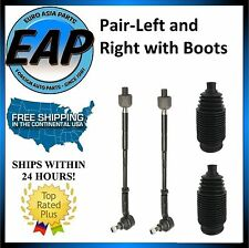 For VW Beetle Golf Jetta PAIR LFT RT Inner Outer Tie Rod Assembly w/ Boots NEW