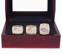 1997/1998/2015 Denver Broncos Replica Super Bowl Championship Rings Set