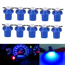 10pcs T5 B8.5D 5050 1SMD LED Dashboard Dash Gauge Instrument Light Bulbs Blue