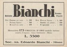 Z1121 Biciclette e Motocicletta BIANCHI - Pubblicità d'epoca - 1933 Old advert