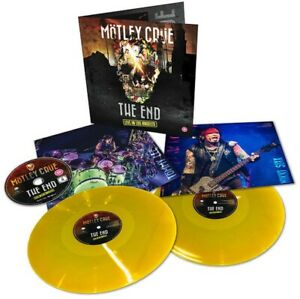 Motley Crue - The End Live in Los Angeles - New Yellow Vinyl 2LP + DVD