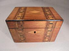 Walnut 1800-1849 Antique Wooden Tea Caddies