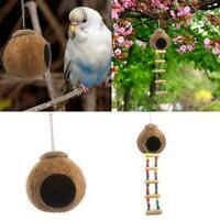 Cage de nid d'oiseau échelle perroquet noix de coco naturel Jouet animal