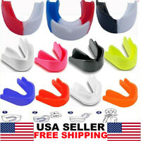 Gel Gum Mouth Guard Shield Case Teeth Grinding Boxing MMA Sports MouthPiece