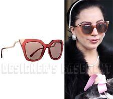 FENDI red Lady GAGA Crystals IRIDIA Cat Eye FF0060S Sunglasses NWT Authentc $465