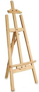 Caballete de madera para pintura de lienzos 120cm plegable