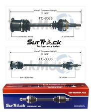 NEW Fits Toyota Corolla FWD 1984-1988 Pair of Front CV Axle Shafts SurTrack Set