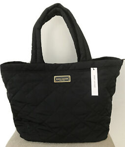 Marc Jacobs Women's Quilted Nylon Extra Large Black Tote Zip Bag MSRP: $ 275 NWT