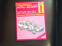 VAUXHALL ASTRA 1984-90' All Models HAYNES MANUAL
