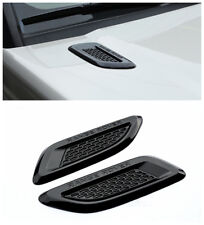 Gloss Black Dummy Hood Vent Slat air wing trim For range rover EVOQUE 2012-2018